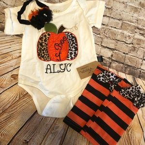 Baby girl 6-12 months fall/pumpkin patch outfit